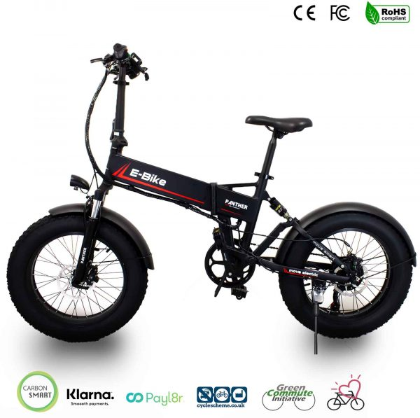 Foldable fat tyre ebike