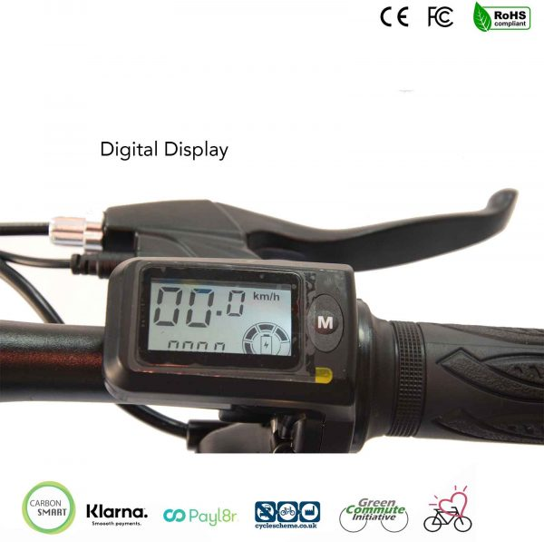digital display on ebike
